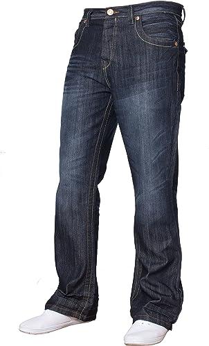Apt Pantalones Vaqueros De Mezclilla Para Hombre Con Corte De Bota Pierna Ancha Y Amplia Gama De Tamanos Y Colores Disponibles Amazon Es Ropa Y Accesorios