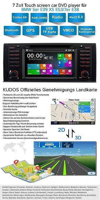 A Sure 7 Inch Double Din Car Radiodvdgps Amazoncouk Electronics