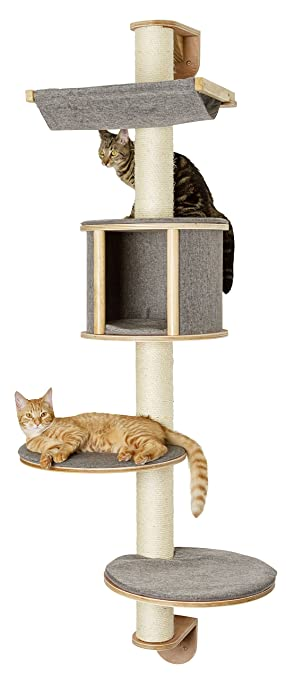 wall mounted cat furniture. Kerbl Dolomit Tofana Wall-Mounted Cat Tree, 168 X 75 Cm, Grey Wall Mounted Furniture