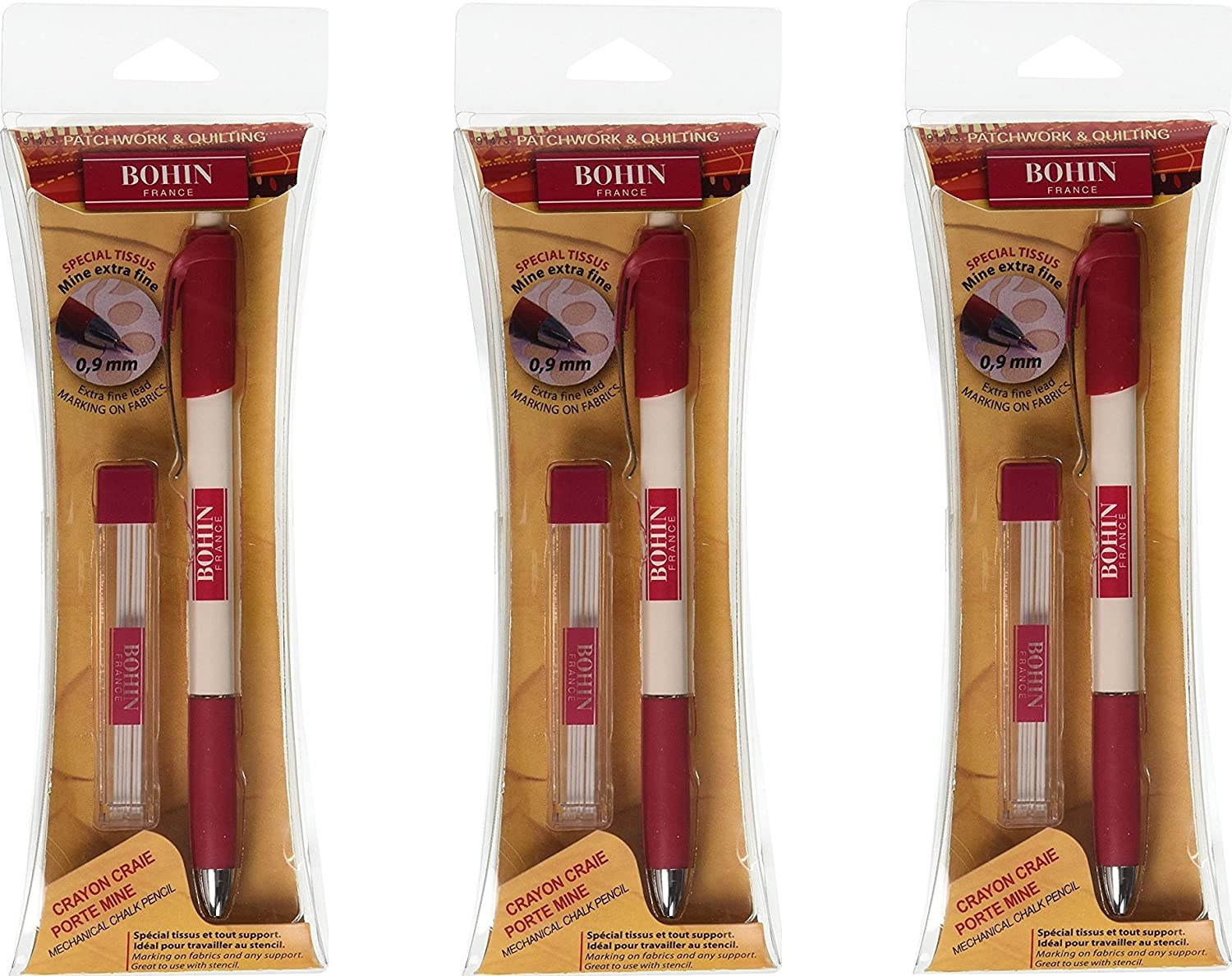 2 Pack Bohin Extra-Fine Chalk Pencil