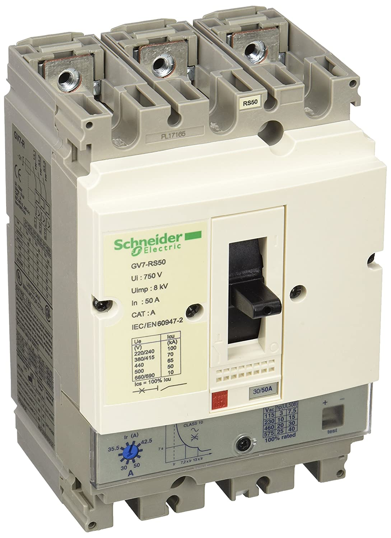 Schneider Electric GV7RS50 Tesys Gv7-Rs, Disyuntor Magnetotérmico ...