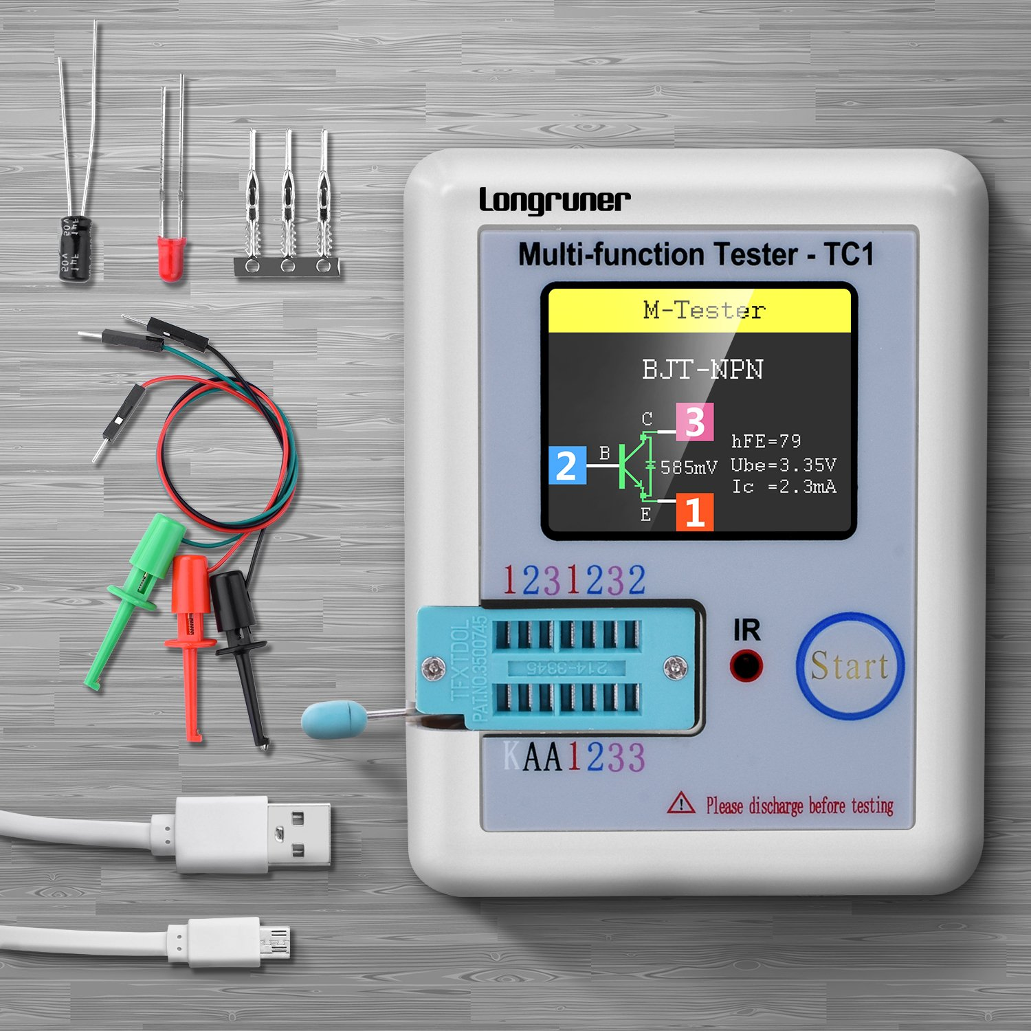 Multi Function Tester Longruner 18 Inch Colorful Display Figure 81 First Mosfet Test Circuit Pocketable Multifunctional Tft Backlight Transistor Lcr Tc1 For Diode Triode Capacitor