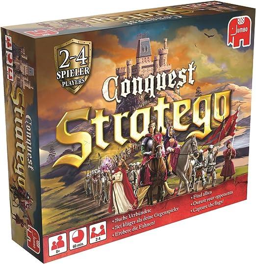 Stratego Conquest Niños y Adultos Estrategia - Juego de Tablero (Estrategia, Niños y Adultos, 60 min, Niño/niña, 8 año(s), Alemán, Inglés): Amazon.es: Juguetes y juegos