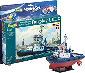 Revell - Maqueta Modelo Set Harbour Tug Boat, Escala 1:144