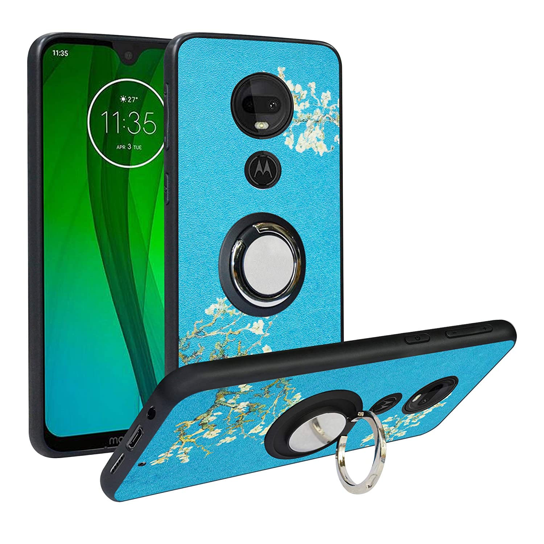 Compatible Motorola Moto G7 Moto G7 Plus Phone Case Alapmk Pattern Design Soft TPU Hard PC Protective Durable Case with Kickstand 360°Adjustable Ring ...