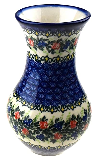 Amazon Ceramika Boleslawiecka Kalich Polish Hand Painted Flower