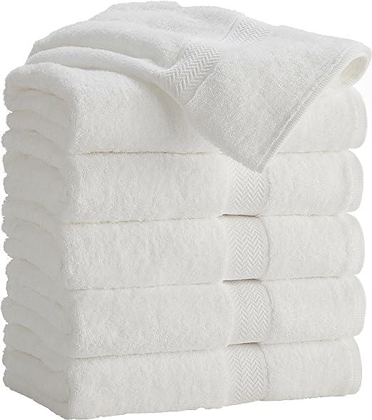 24 2 dozen new white 22x44 100/% cotton terry bath towels salon//gym 6.5# dozen
