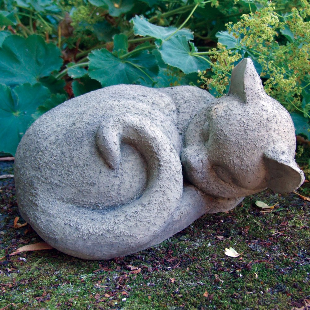 Garden ornaments sleeping cat statue sculpture amazon garden ornaments sleeping cat statue sculpture amazon garden outdoors workwithnaturefo
