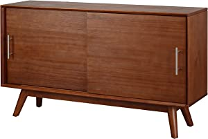 "Amazon Brand – Rivet Mid-Century Modern Two-Door Media Console Table, 48""W, Antique Espresso"