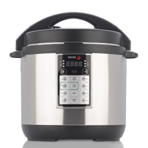 Fagor LUX Multi-Cooker, 6 quart, Electric Pressure Cooker, Slow Cooker, Rice Cooker, Yogurt Maker and more, Silver- 670041880