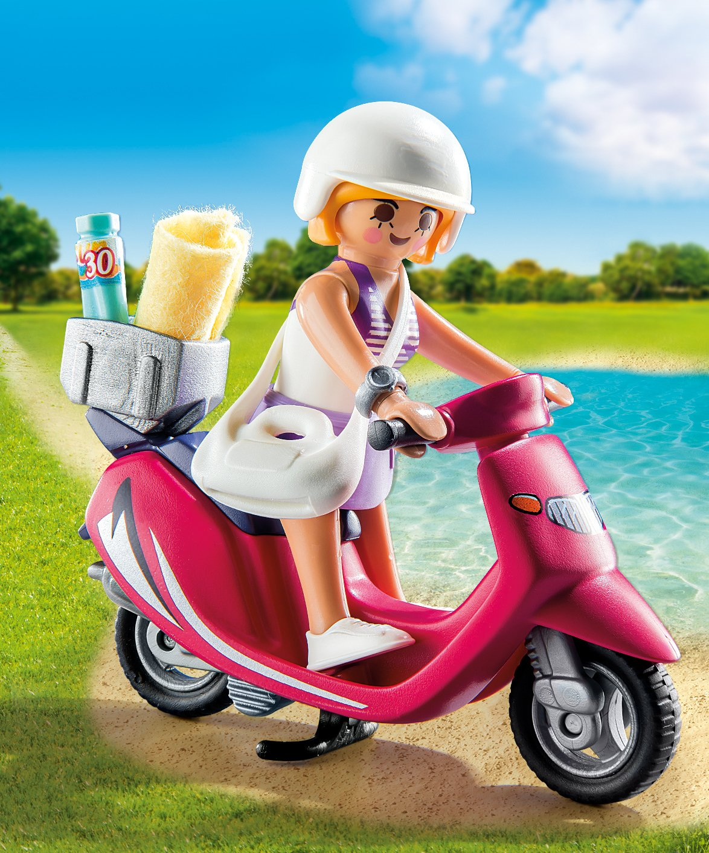 PLAYMOBIL/® Beachgoer with Scooter Building Set Playmobil Cranbury 9084