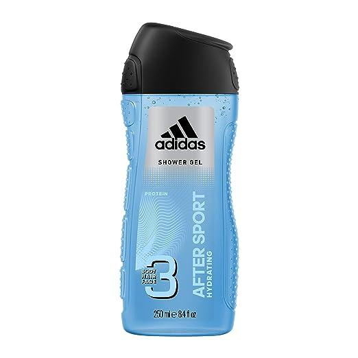 adidas After Sport Duschgel für Herren 3 in 1 - Belebende Reinigung von Körper, Haaren & Gesicht - pH hautfreundlich - 1 x 250 ml