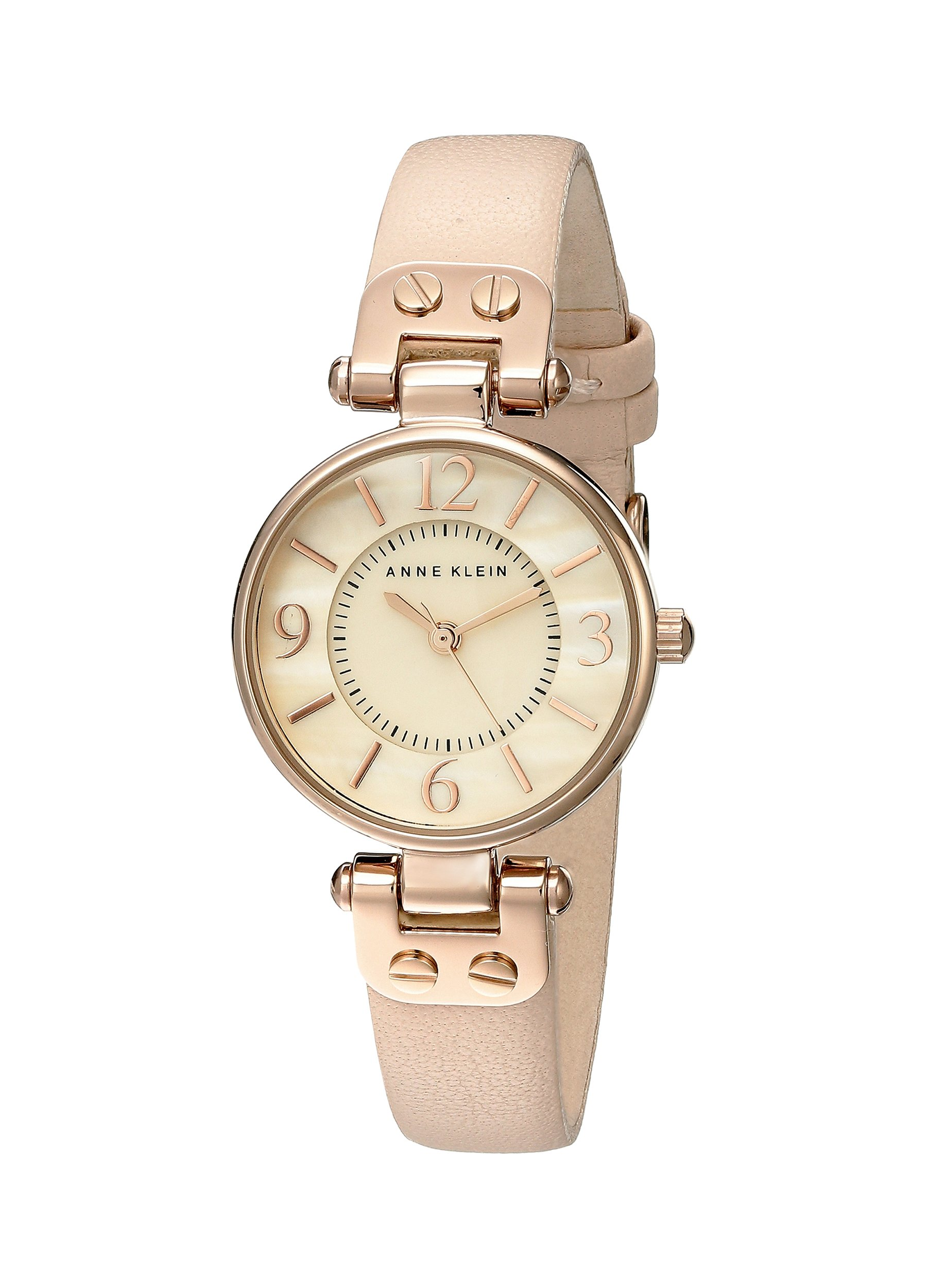 Galleon anne klein women 39 s 10 9442rglp rose gold tone watch with leather band for Anne klein rose gold watch set