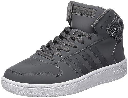 Mens Vs Hoops Mid 2.0 Hi-Top Trainers, Black (Black) adidas
