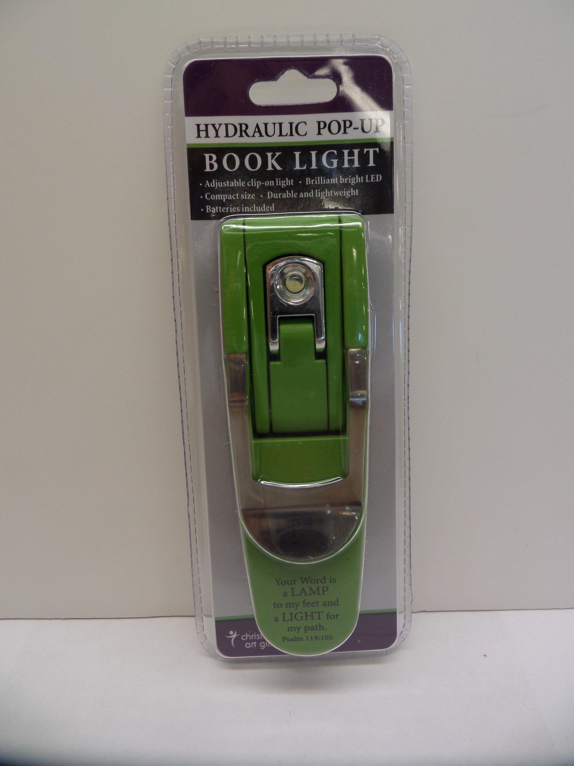 hydraulic pop up green booklight christian art ts