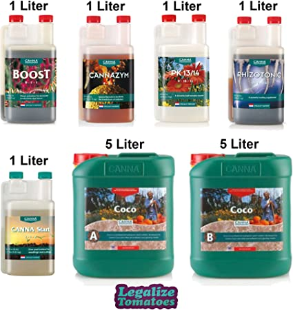 B Canna Hydroponics Nutrients /& Coco Natural Plus 50L complete grow kit pack A
