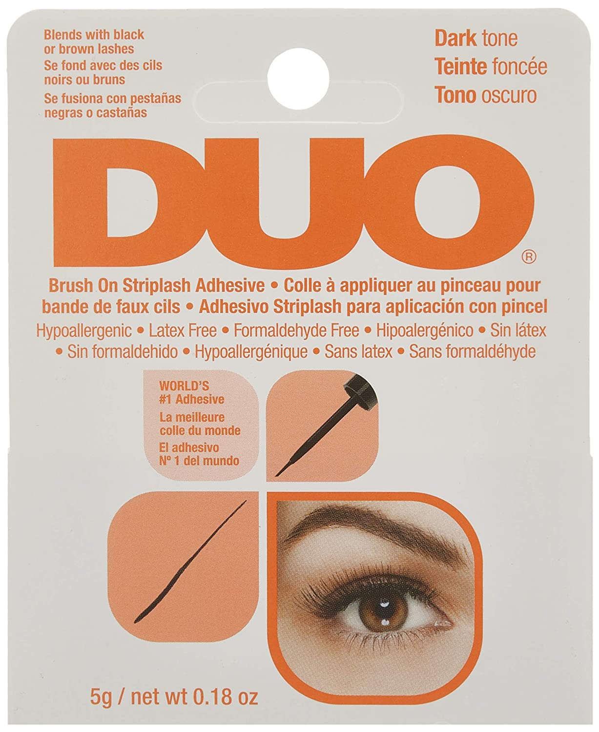 Ardell, Tratamiento para pestañas (DUO Brush On Strip Lash Adhesive Dark) - 25 gr.