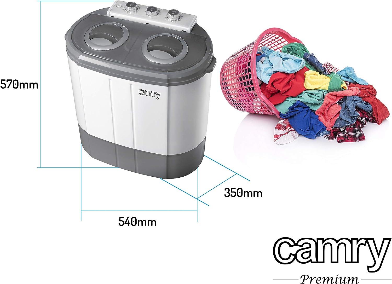 Camry CR8052, Mini Lavadora con Centrifugador, 3 Kg: Amazon.es ...