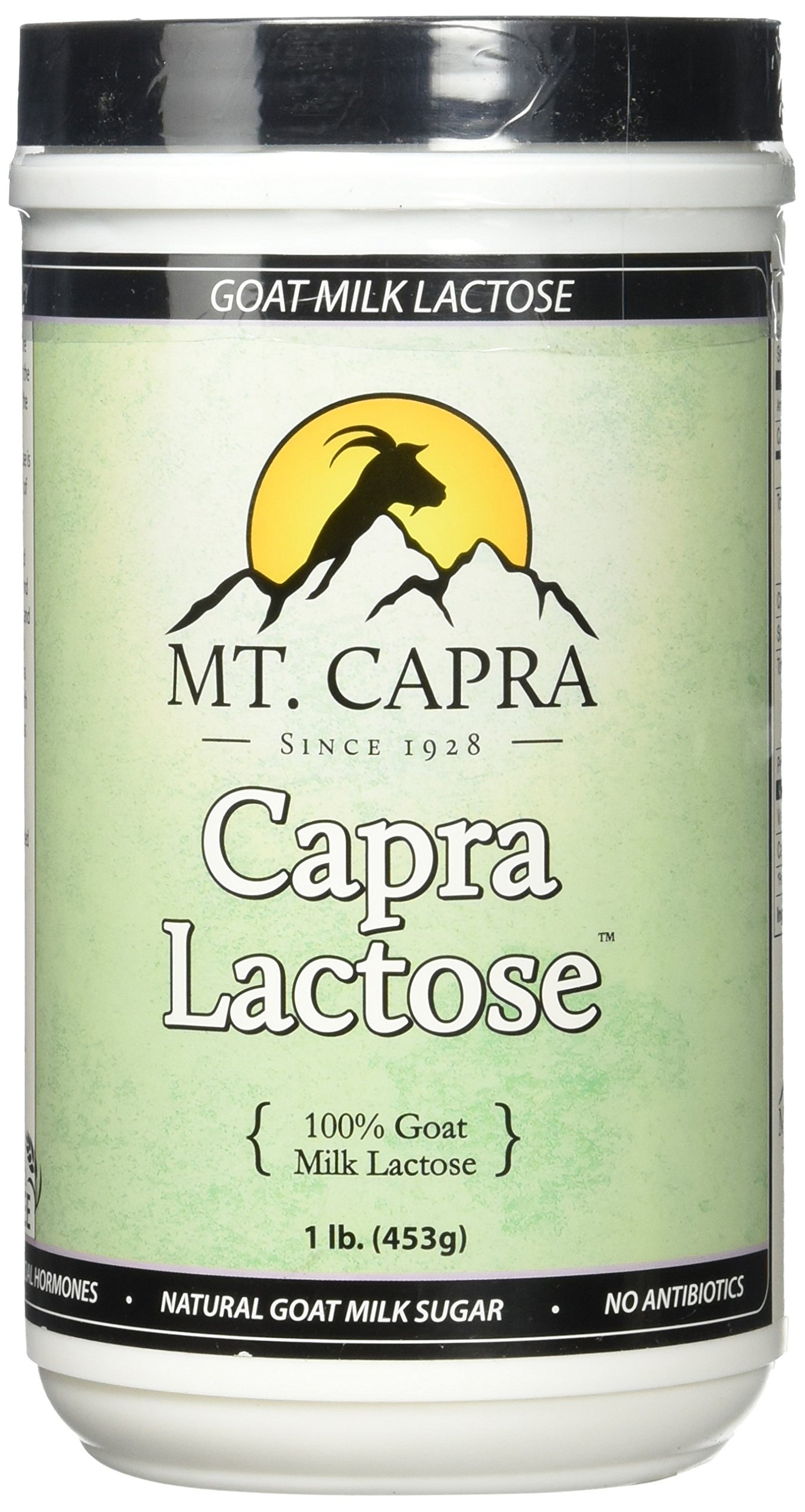 Goat Milk Lactose Powder by Mt. Capra - CapraLactose Pure Milk Sugar From Goats Whey For Homemade Baby Infant Formula, Boost Beneficial Gut Bacteria Lactobacillus Acidophilus In GI-Tract - 1 Pound