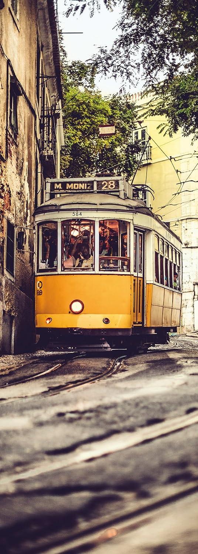 100 x 280 cm Portugal Stadt Tapete Urlaub Wand Dekoration 161-DV1 Komar Tram Vlies Fototapete LISSABON