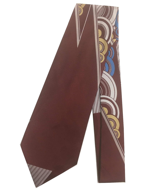Downton Abbey Men's Fashion Guide Sacred Geometry Vintage Tie - Jacquard Weave Wide Kipper Necktie Burgundy C $25.95 AT vintagedancer.com