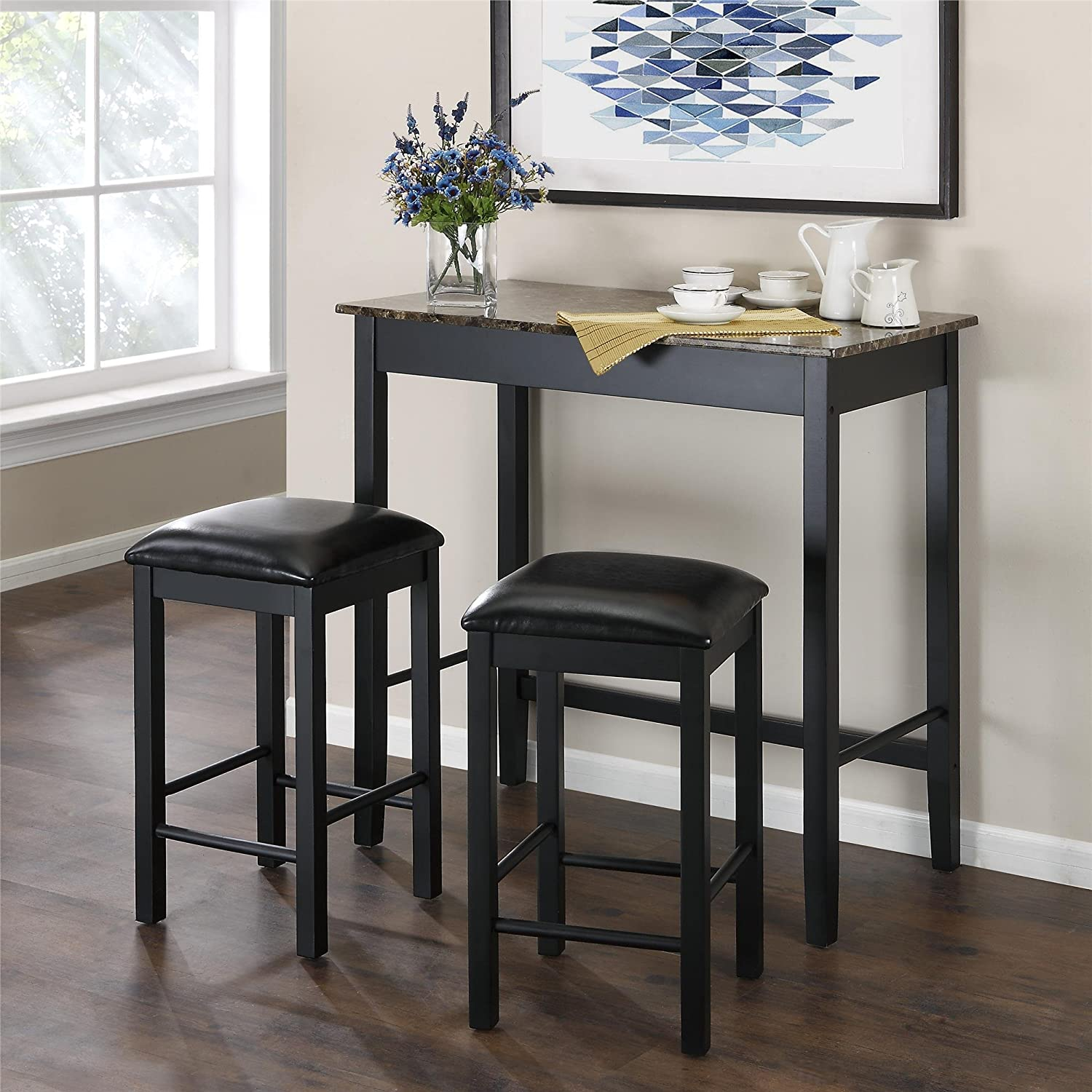 Kitchen Set Table And Chairs Amazoncom Table Chair Sets Home Kitchen