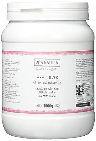 MSM en polvo (Metilsulfonilmetano) 1000g: Amazon.es: Salud y cuidado personal