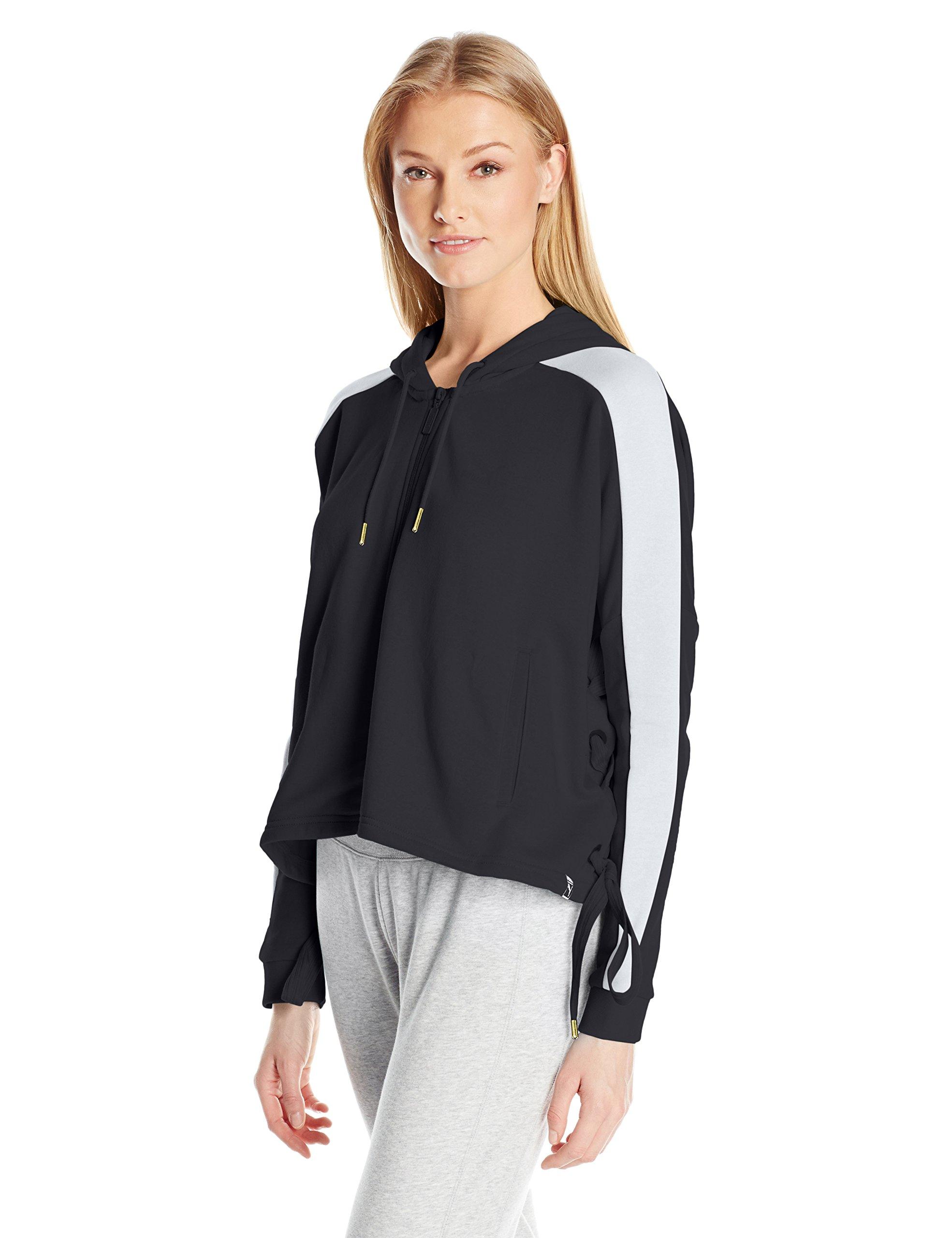 PUMA Women's Heart T7 Track Jacket, Black, M