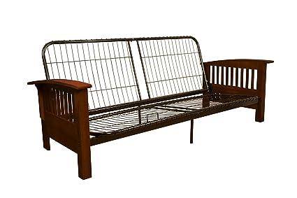 Amazoncom Brentwood MissionStyle Futon Sofa Sleeper Bed Frame