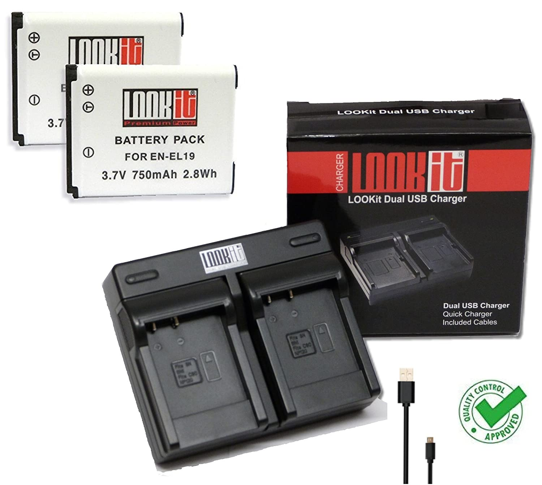 Schnell-Ladegerät CoolPix S6800 fuer Nikon CoolPix S5300 mit Micro USB Plug