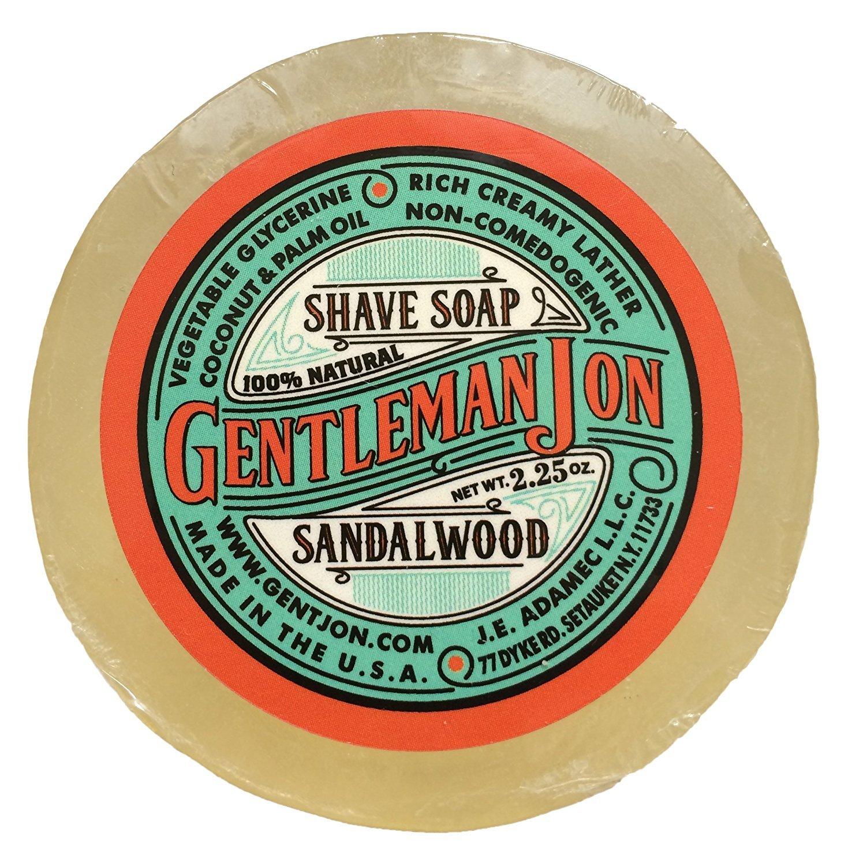 Gentleman Jon Sandalwood Shave Soap; Glycerine 2.25oz