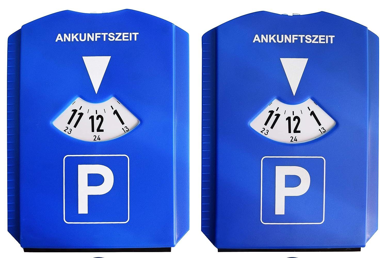 blau Set of 2 Kaufmann Neuheiten AZINN602 Parkscheibe mit 3 Einkaufswagen-Chips 2 St/ück