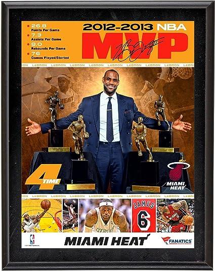 baf356c1cb5 LeBron James Miami Heat 4 Time NBA MVP Framed Collage 10 quot  x 13 quot   2012