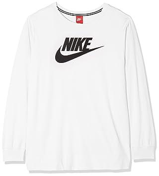 Nike W NSW LS Hbr Ext Camiseta, Mujer, Bianco, 1X
