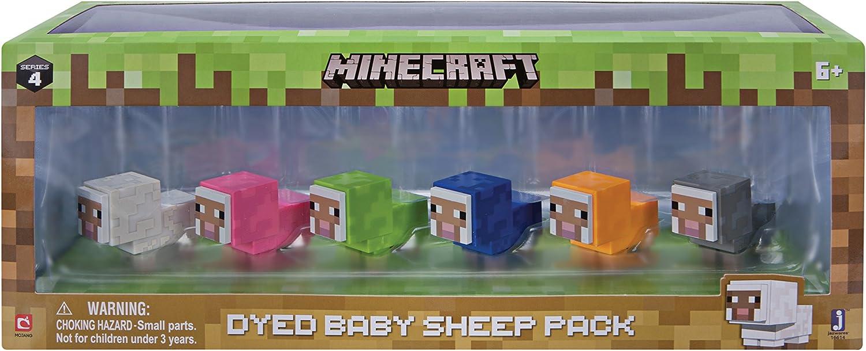 Minecraft- Paquete de ovejas para bebé teñido, Multicolor ...