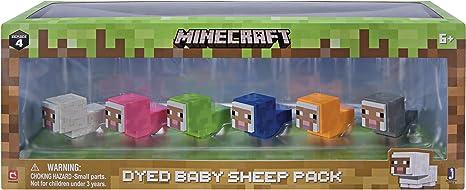 Minecraft- Paquete de ovejas para bebé teñido, Multicolor (Jazwares 16614): Amazon.es: Juguetes y juegos