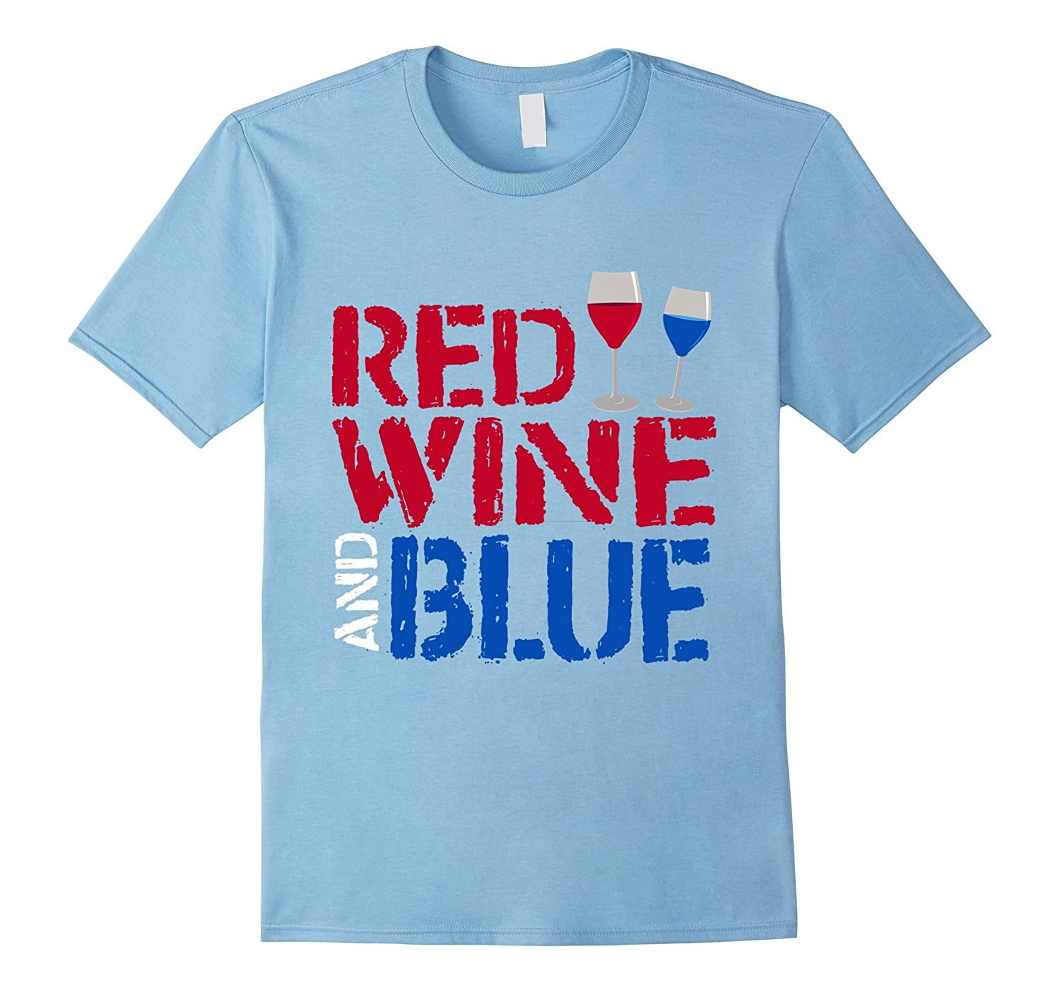 Red wine and blue hilarious ironic t shirt cd canditee for Red and blue t shirt