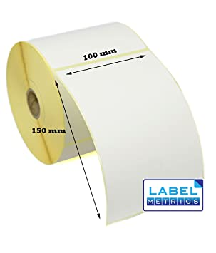 Label Metrics 100 x 150mm WHITE Direct Thermal Labels - Zebra GK420D,  GX420D, GK420T - 5 Rolls 1,250 Labels