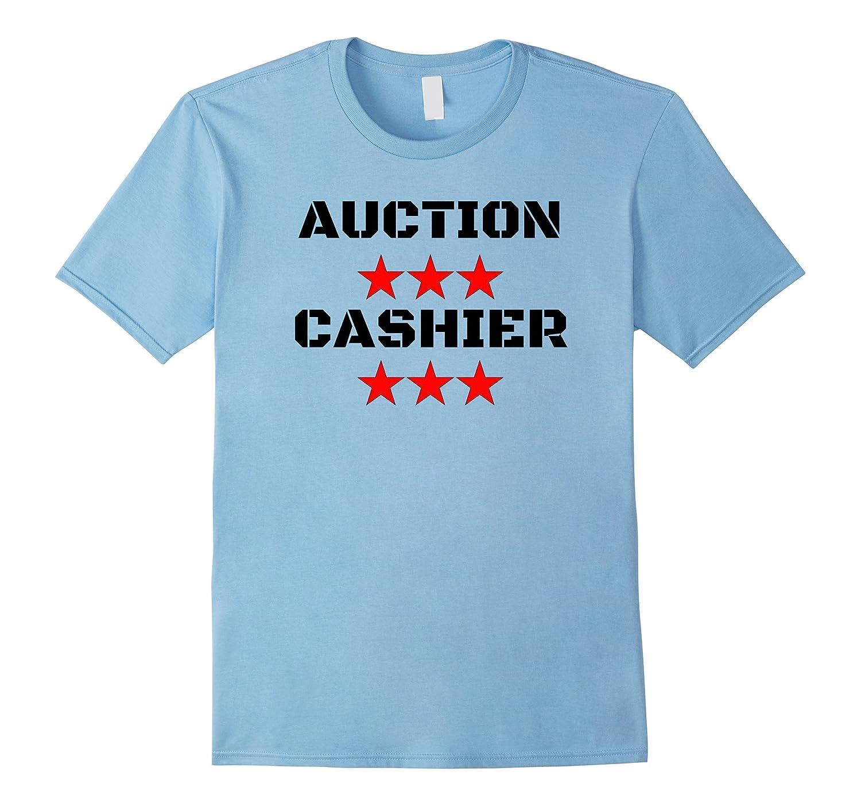 Auction Cashier Employee Staff fun Shirt-TJ