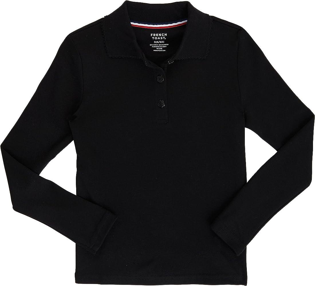 French Toast uniforme escolar Niñas polo de manga larga Interlock ...