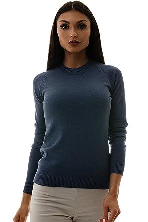 39412530406df5 KNITTONS Women s Modal Wool Knit Mock Turtleneck Sweater Long Sleeve  Pullover Top (X-Small