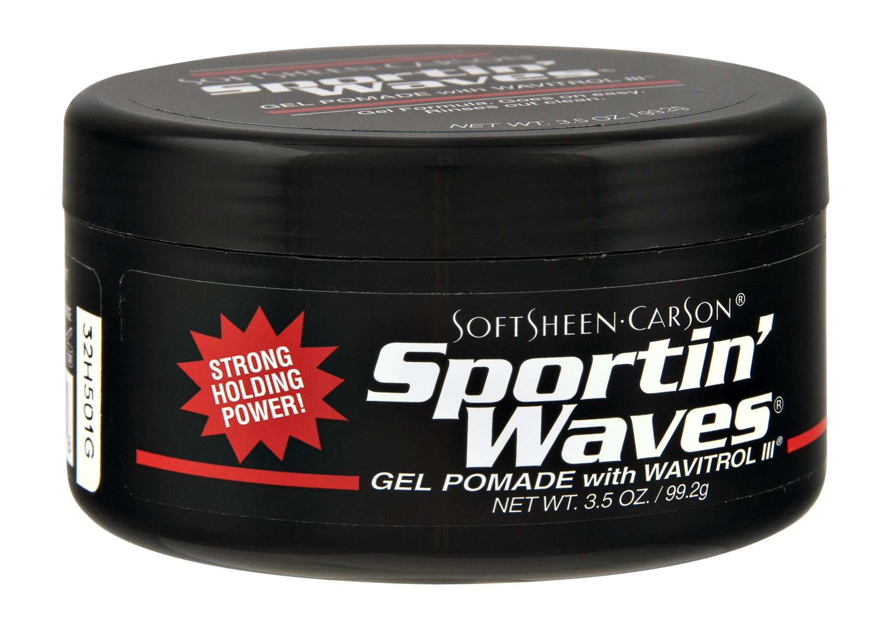Soft Sheen Sportin Waves 3.5 Ounce Gel Pomade/Wavitrol Jar (103ml) (3 Pack)