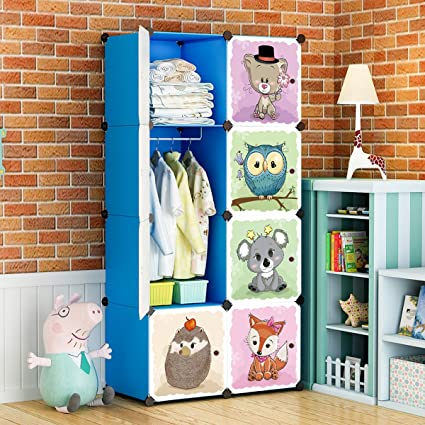 Amazon.com: KOUSI Kid Dresser Portable Closet Wardrobe Children ...
