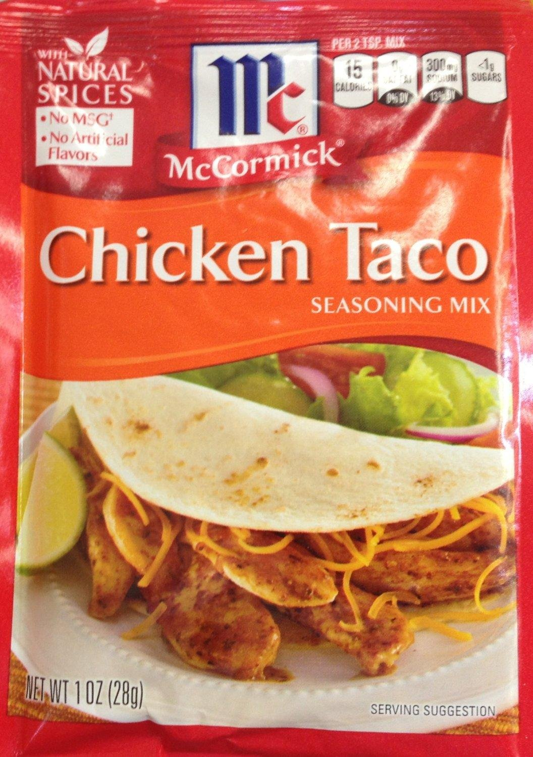 Amazon Com Mccormick Chicken Taco Seasoning Mix Pack Of 4 1 Oz Packets Mexican Seasonings Grocery Gourmet Food