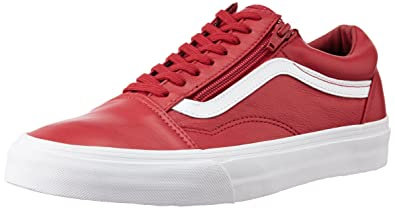 95d6f2a7b883 Vans Unisex Old Skool Zip (Premiumleather) Chilipepper Canvas Sneakers - 9  UK  Buy Online at Low Prices in India - Amazon.in