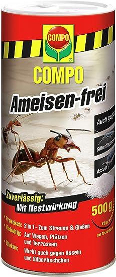 Compo Antihormigas, Cebo granulado contra Hormigas, cochinillas y Lepisma, 500 g, no para Las Abejas