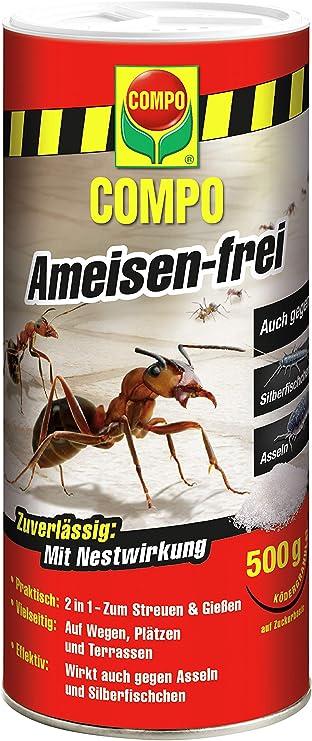 Compo Antihormigas, Cebo granulado contra Hormigas, cochinillas y Lepisma, 500 g, no para Las Abejas: Amazon.es: Jardín
