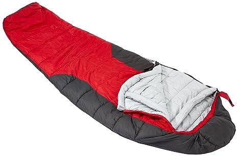 Lafuma Schlafsack GR 30 - Saco de dormir momia para acampada, color rojo, talla