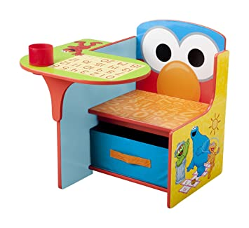 Beau Delta Children Chair Desk With Storage Bin, Sesame Street