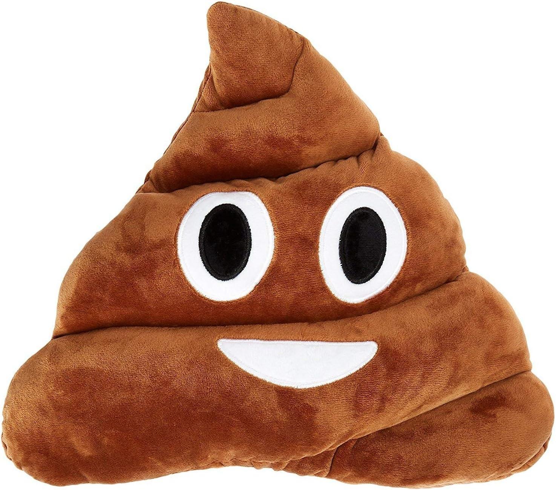 "B01M0UTDCB Q's 13"" Poop Poo Emoji Emoticon Cushion Pillow Brown Stuffed USA Seller 81mxSpbJOSL"